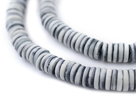 Light Grey Bone Button Beads (8mm) - The Bead Chest