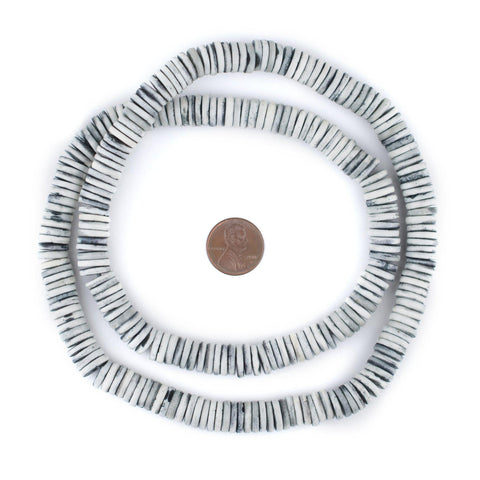 Light Grey Bone Button Beads (10mm) - The Bead Chest