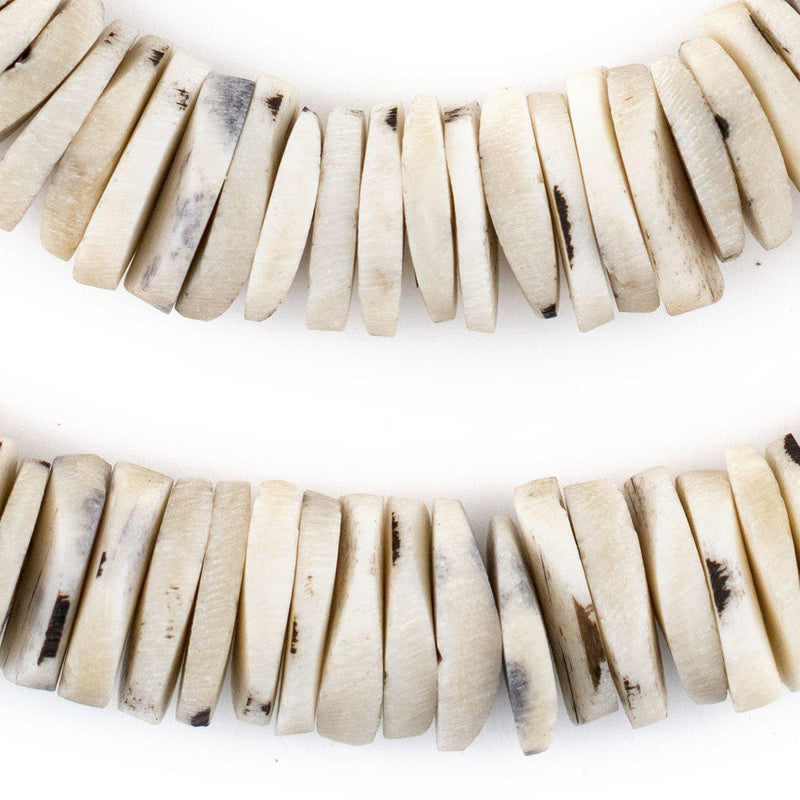 Rustic Grey Coconut Bone Heishi Beads (18mm) - The Bead Chest