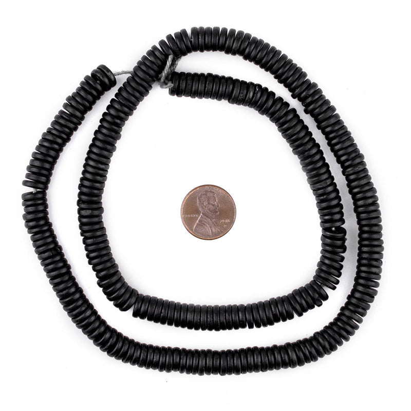 Black Bone Button Beads (8mm) - The Bead Chest
