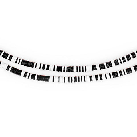 Black & White Vinyl Phono Record Beads (3mm) - The Bead Chest