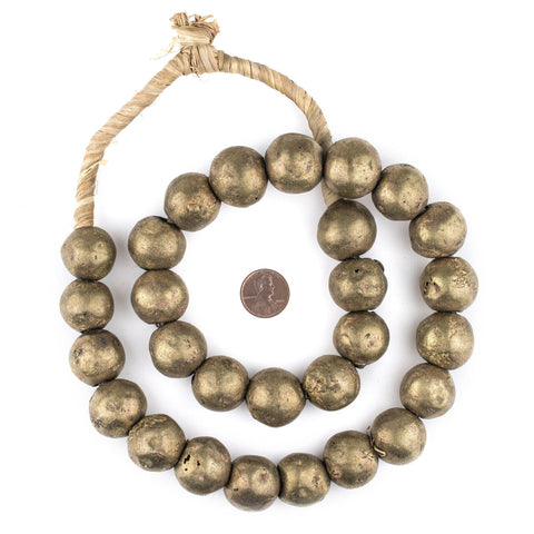 Jumbo Round Nigerian Brass Beads (20mm) - The Bead Chest