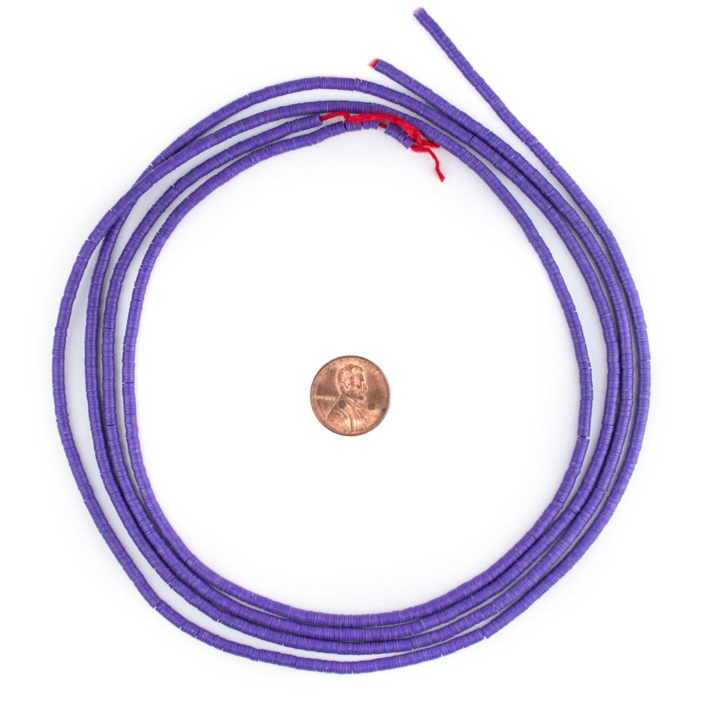 Purple Vinyl Phono Record Beads (3mm) - The Bead Chest