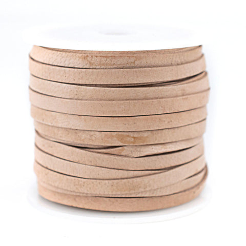 5.0mm Natural Flat Leather Cord (75ft)