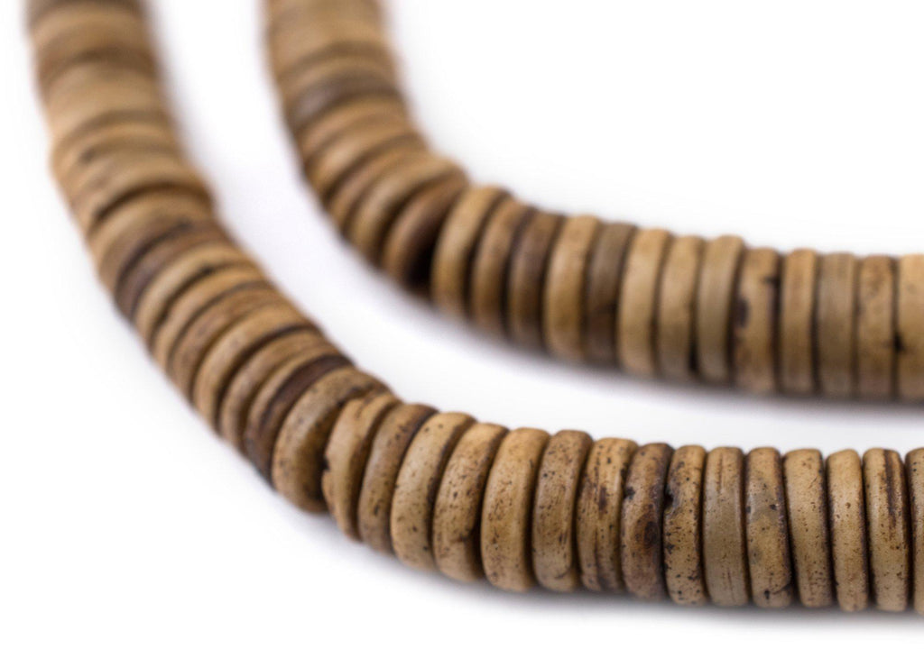 Brown Bone Button Beads (8mm) - The Bead Chest
