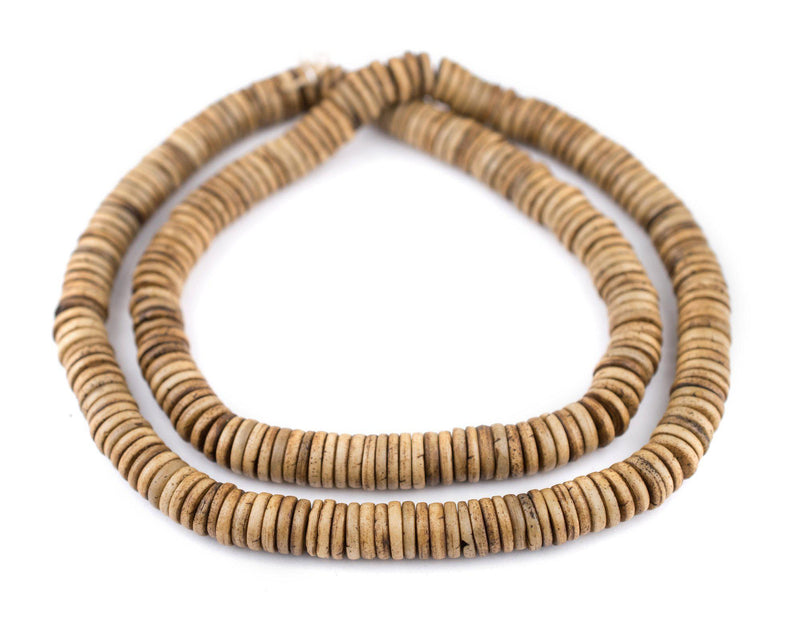 Brown Bone Button Beads (10mm) - The Bead Chest