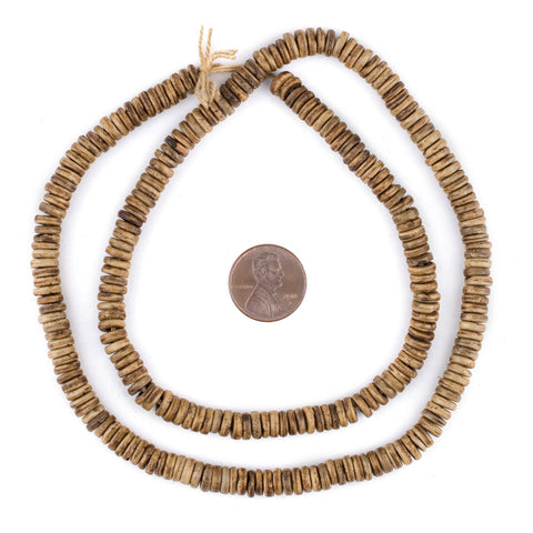 Image of Brown Bone Button Beads (6mm) - The Bead Chest