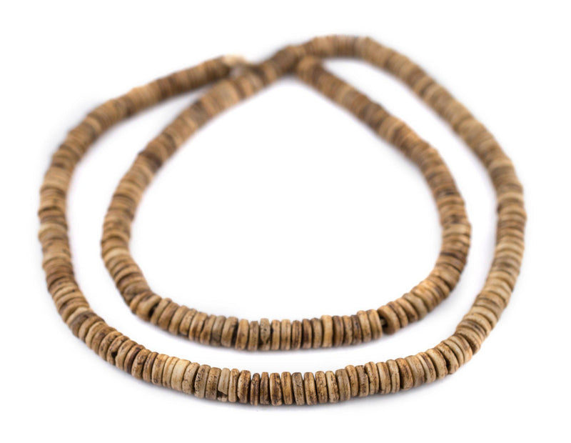 Brown Bone Button Beads (6mm) - The Bead Chest