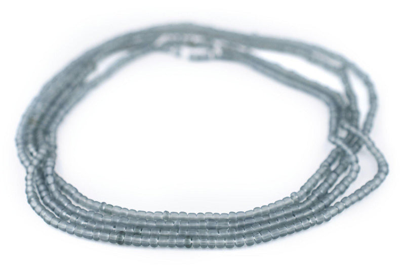 Grey Matte Glass Seed Beads (3mm)