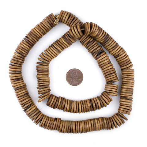 Image of Brown Bone Button Beads (14mm) - The Bead Chest