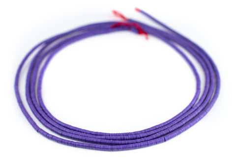 Image of Purple Vinyl Phono Record Beads (3mm) - The Bead Chest