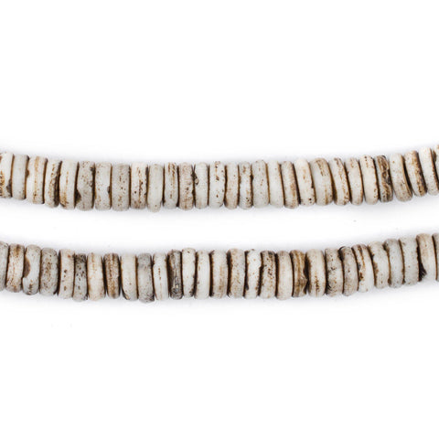 Rustic Grey Bone Button Beads (6mm) - The Bead Chest