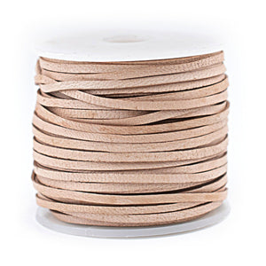 1.5mm Natural Flat Leather Cord (75ft)