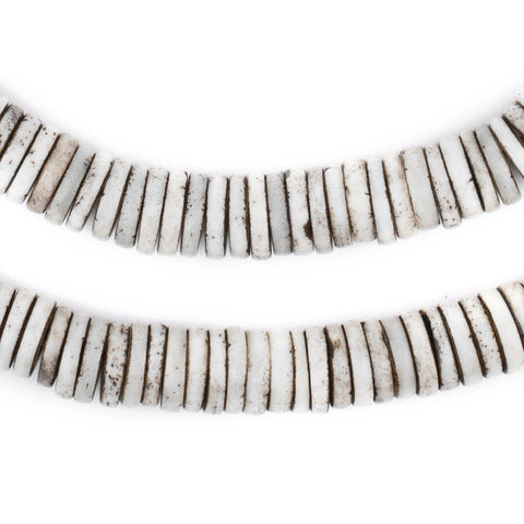 Rustic Grey Bone Button Beads (10mm) - The Bead Chest
