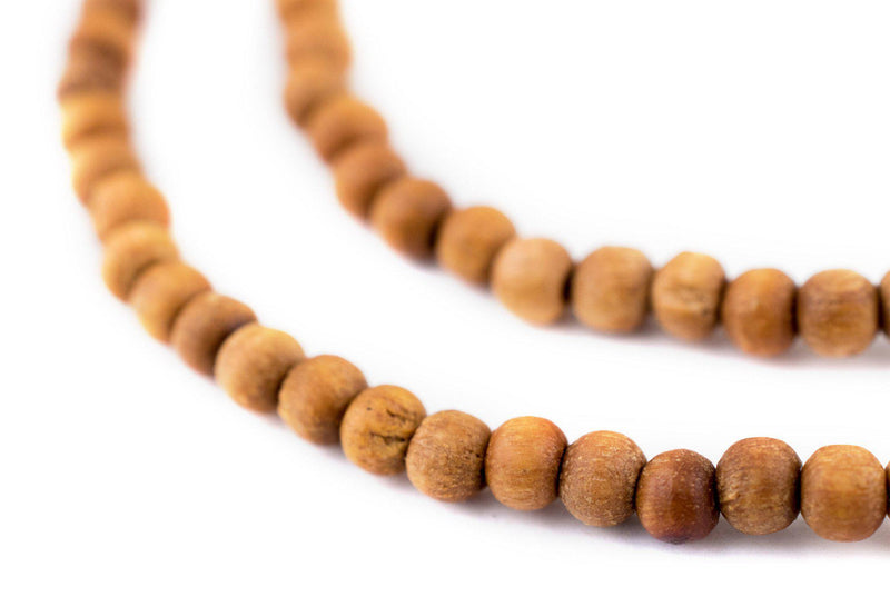 Natural Sandalwood Mala Beads (4mm) - The Bead Chest