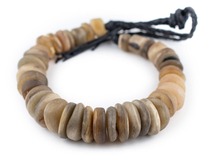 Natural Color Moroccan Horn Beads (Small) - The Bead Chest