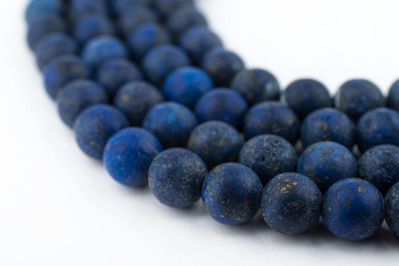 Matte Round Lapis Lazuli Beads (6mm) - The Bead Chest