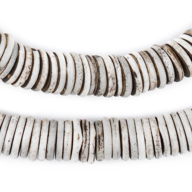 Rustic Grey Bone Button Beads (12mm) - The Bead Chest