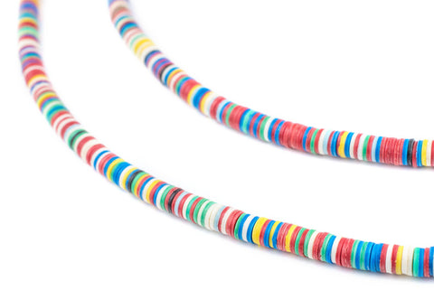 Rainbow Medley Phono Record Vinyl Beads (4mm) - The Bead Chest