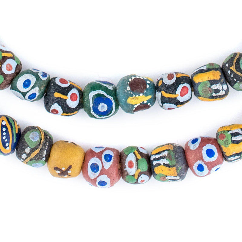 Mixed Krobo Powder Glass Beads (Round) - The Bead Chest