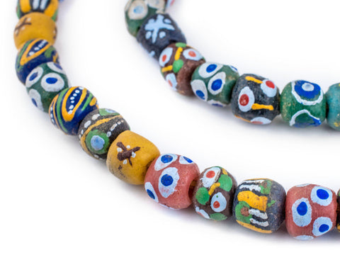 Image of Mixed Krobo Powder Glass Beads (Round) - The Bead Chest