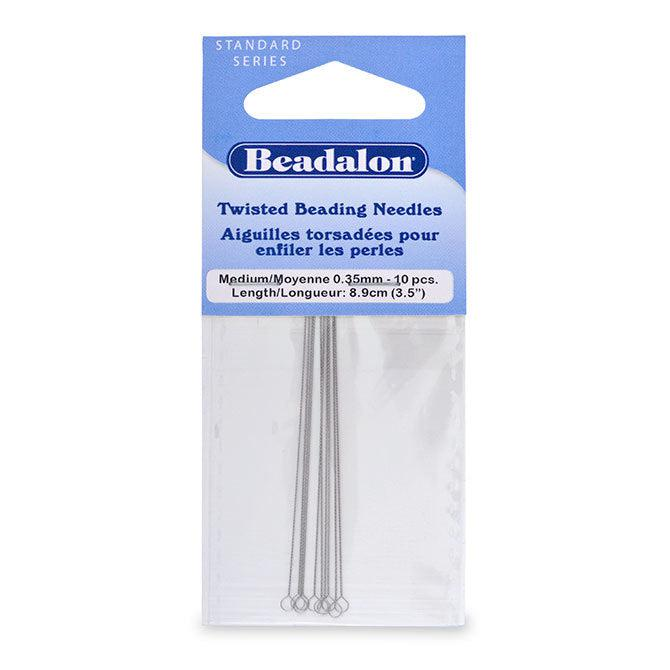 0.35mm Medium Asian Twisted Beading Needles (10 pc) - The Bead Chest