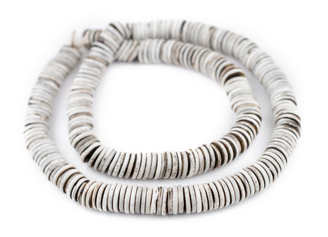 Image of Rustic Grey Bone Button Beads (12mm) - The Bead Chest