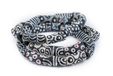 Black & White African Bead Bracelet - The Bead Chest