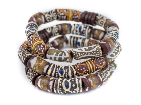 Brown African Bead Bracelet - The Bead Chest