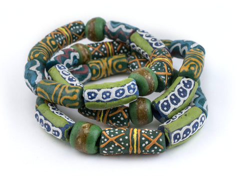 Green African Bead Bracelet - The Bead Chest