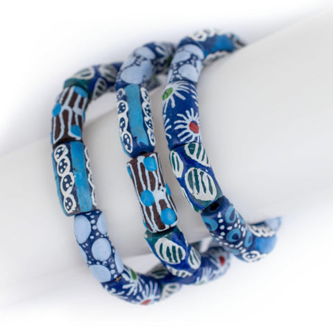 Blue African Bead Bracelet - The Bead Chest