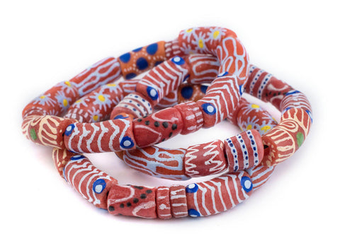 Red African Bead Bracelet - The Bead Chest