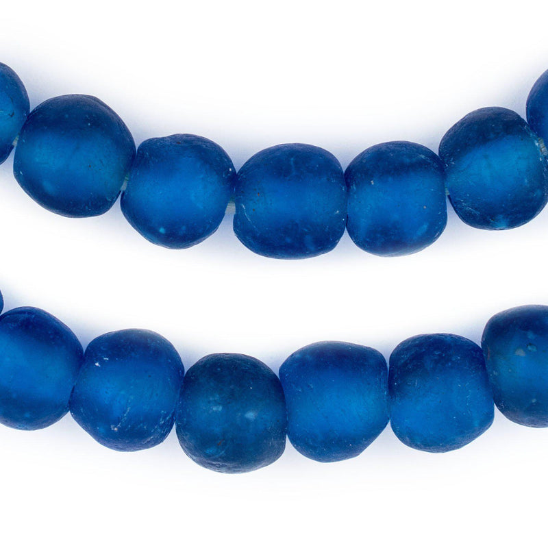 Dark Azul Recycled Glass Beads (14mm) - The Bead Chest