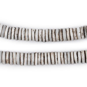 Rustic Grey Bone Button Beads (8mm) - The Bead Chest