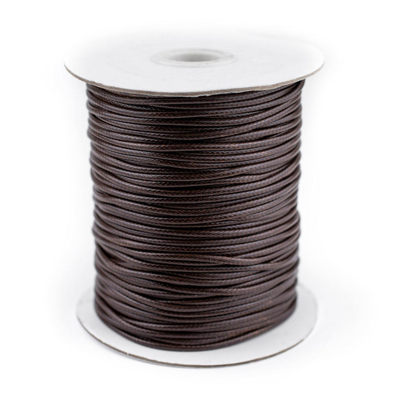2mm Dark Brown Waxed Polyester Cord (250ft) - The Bead Chest