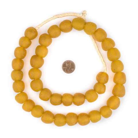 Light Orange Recycled Glass Beads (18mm) - The Bead Chest