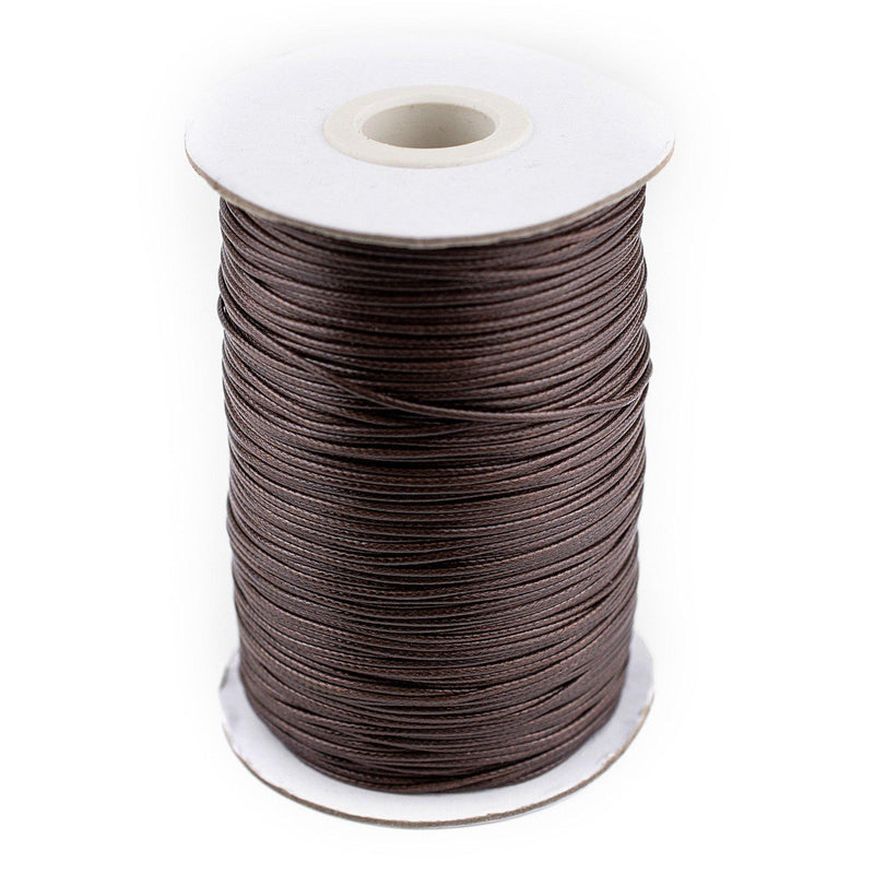 1mm Dark Brown Waxed Polyester Cord (500ft) - The Bead Chest