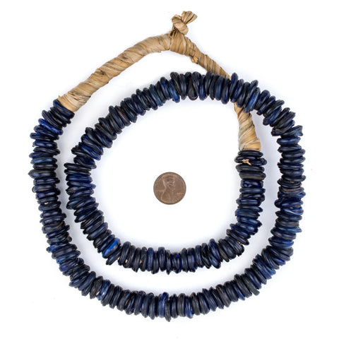 Old Blue Ethiopian Annular Dogon Beads - The Bead Chest