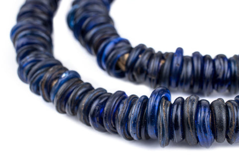 Image of Old Blue Ethiopian Annular Dogon Beads - The Bead Chest