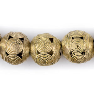 Cameroon-Style Brass Filigree Globe Beads (20mm) - The Bead Chest