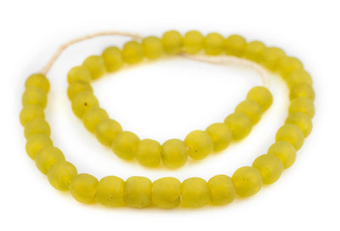 Corn Yellow Recycled Glass Beads (14mm) - The Bead Chest