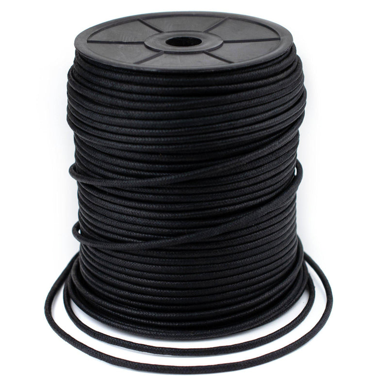 3.0mm Black Waxed Cotton Cord (300ft)