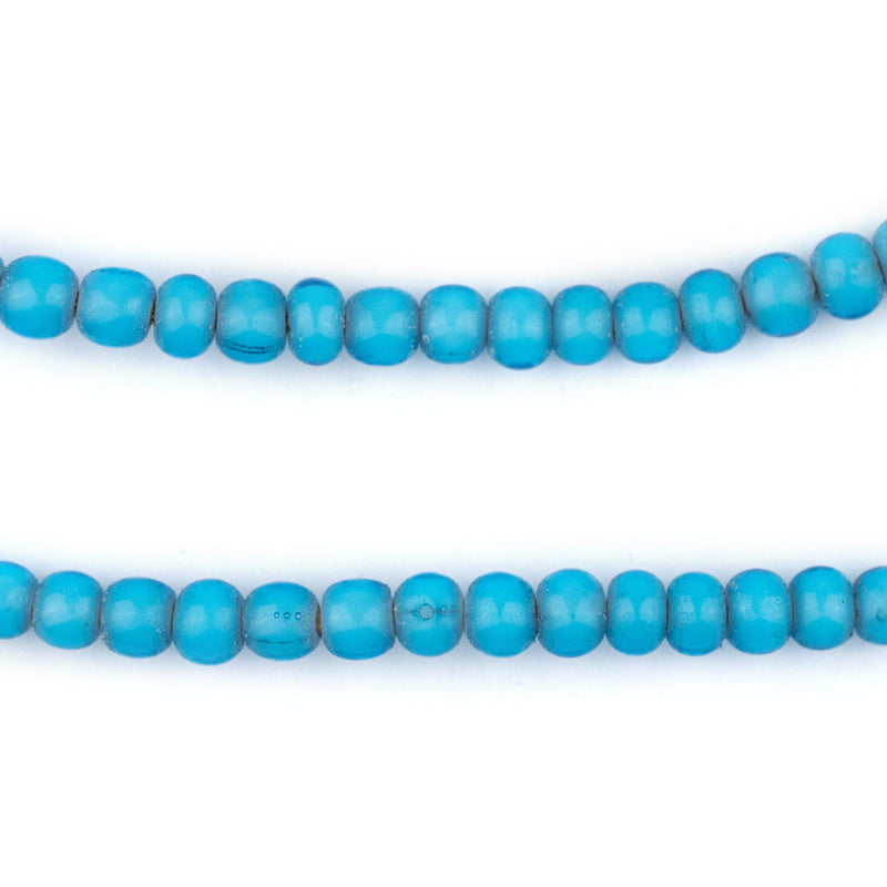 Turquoise White Heart Beads (6mm) - The Bead Chest