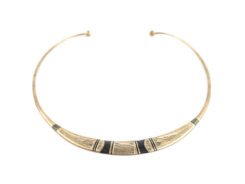 Patterned Tuareg Silver Choker Necklace - The Bead Chest