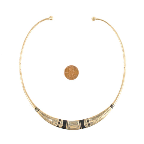 Image of Patterned Tuareg Silver Choker Necklace - The Bead Chest