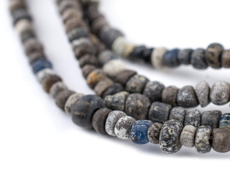 Grey Ancient Djenne Nila Glass Beads - The Bead Chest