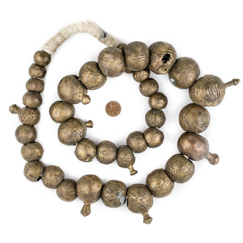 Image of Super Jumbo Graduated Yoruba Brass Beads - The Bead Chest