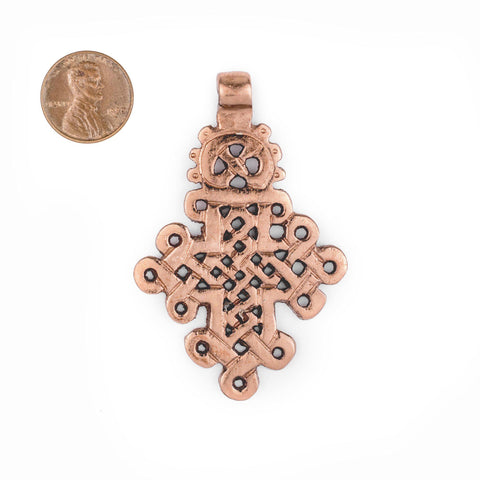 Copper Coptic Cross Pendant (66x43mm) - The Bead Chest