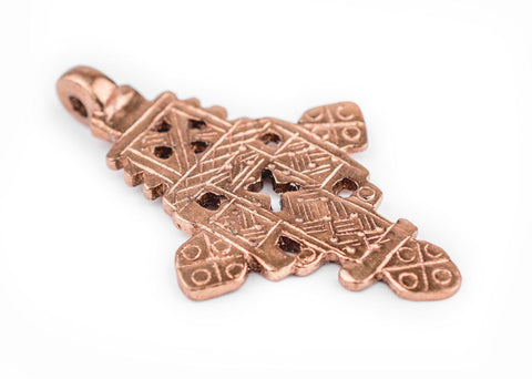 Copper Coptic Cross Pendant (62x37mm) - The Bead Chest