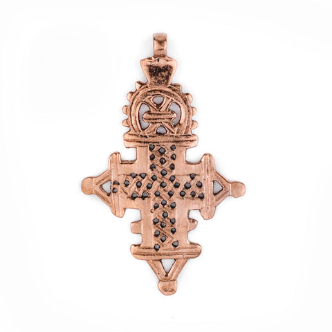 Copper Coptic Cross Pendant (89x56mm) - The Bead Chest